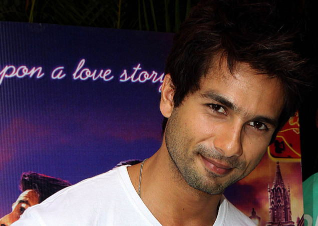Shahid Kapoor poses for a photograph during the promotion of theHindi film 'Teri Meri Kahaani' in Mumbai