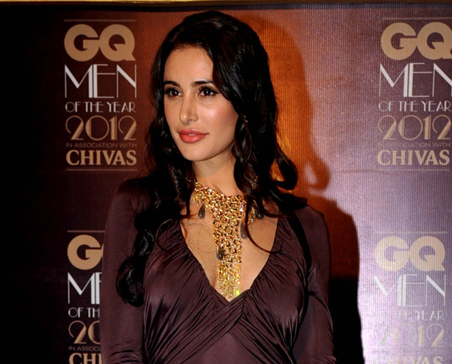 US fashion model and actress Nargis Fakhri poses during the 'GQ Men of the Year Awards 2012' ceremony in Mumbai.