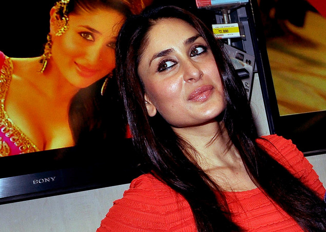 Kareena Kapoor attends a press conference for the promotion of her Hindi film Agent Vinod