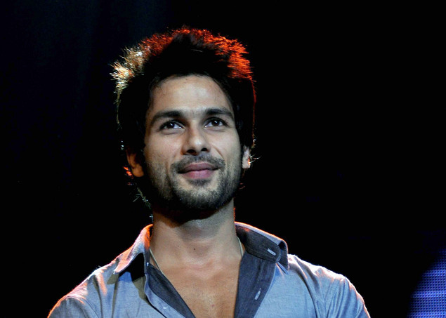 Indian Bollywood actor Shahid Kapoor attends the Summer Funk 2012 dance by cinematographer Shiamak Davar, during the screening of his pop music video show in Mumbai.