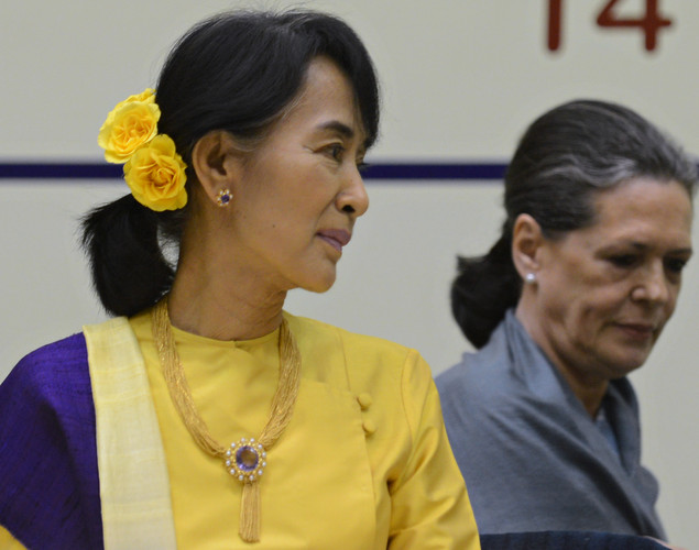 1960: After finishing high school, Suu Kyi leaves for further study in New Delhi, where her mother is Burma's ambassador.