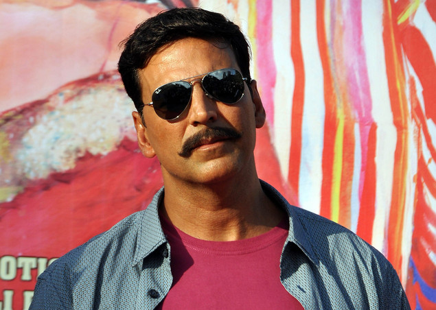 Akshay Kumar poses for a photo during a promotion for the Hindi film Rowdy Rathore