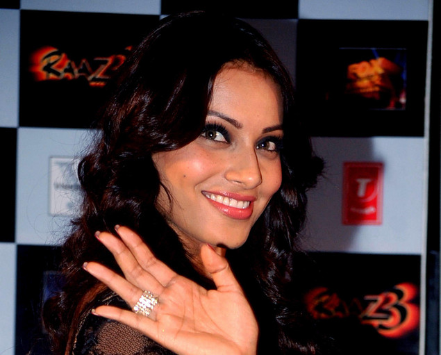 Bipasha Basu poses during the launch of the first trailer of 'Raaz 3' directed by Vikram Bhatt in Mumbai on July 30, 2012.