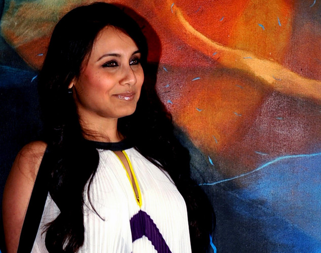 "Bollywood actress Rani Mukherjee attends a party event for the Hindi film ""Talaash"" in Mumbai."