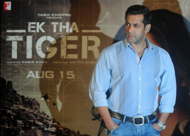 Salman Khan attends the promotional event for Ek Tha Tiger in Mumbai on July 12, 2012.