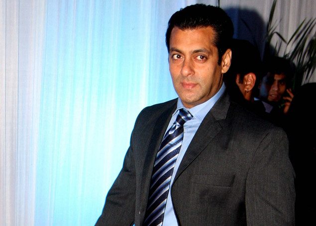 Salman Khan poses during the wedding reception of film actress Esha Deol and husband Bharat Takhtani in Mumbai on June 30, 2012.