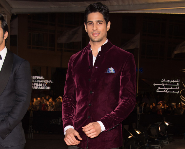 Sidharth Malhotra arrives for the tribute to Hindi cinema at the 12th Marrakech International Film Festival on December 1, 2012 in Marrakech, Morocco.