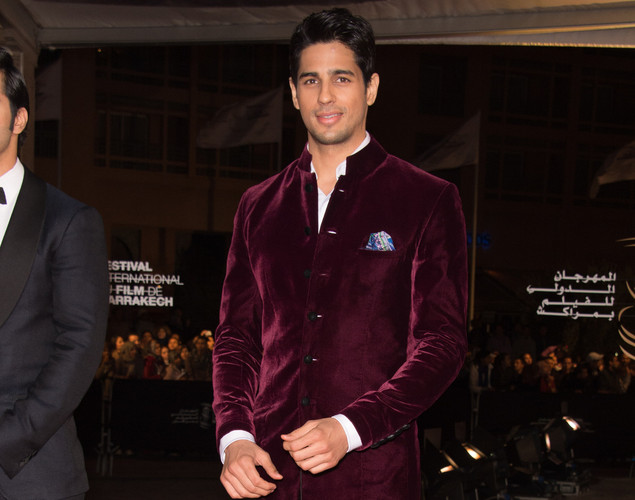 Indian actor Sidharth Malhotra arrives for the tribute to Hindi cinema at the 12th Marrakech International Film Festival.
