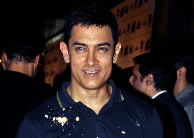 Indian Bollywood film actor Aamir Khan poses during the premiere of Hindi film 'Ferrari Ki Sawaari' in Mumbai.