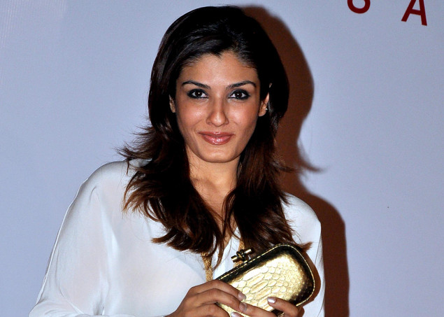 Raveena Tandon attends the launch of the Kallista Spa and Salon in Mumbai on April 20, 2012.