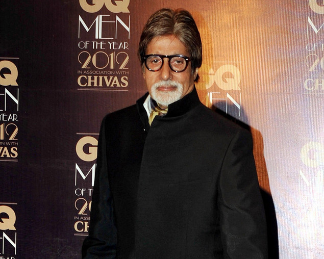 Amitabh Bachchan poses during the 'GQ Men of the Year Awards 2012' ceremony in Mumbai on September 30, 2012.
