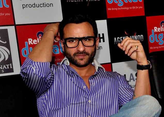 Saif Ali Khan attends a press conference for the promotion of his Hindi film 'Agent Vinod'