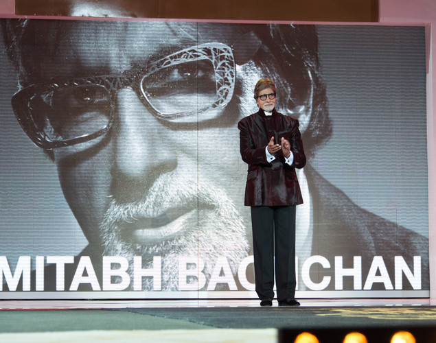 Indian actor Amitabh Bachchan arrives for the tribute to Hindi cinema at the 12th Marrakech International Film Festival Marrakech International 12th Film Festival.