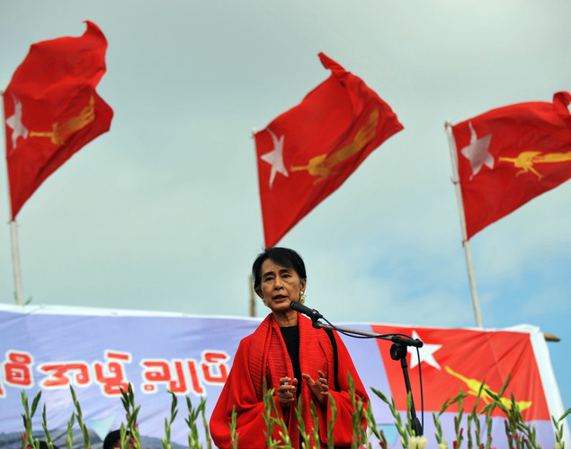Aung San Suu Kyi's life has been marked by family tragedy, world travel and a political mission that prompted her to choose Myanmar's democracy struggle over her children, whom she left behind in England.