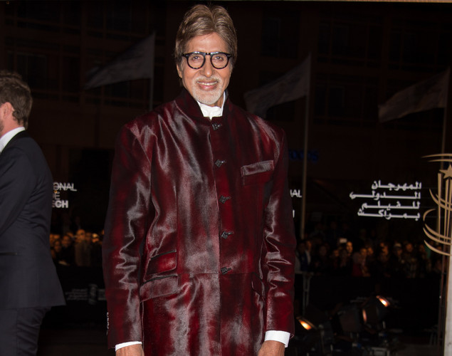 Indian actor Amitabh Bachchan  arrives for the tribute to Hindi cinema at the 12th Marrakech International Film Festival.