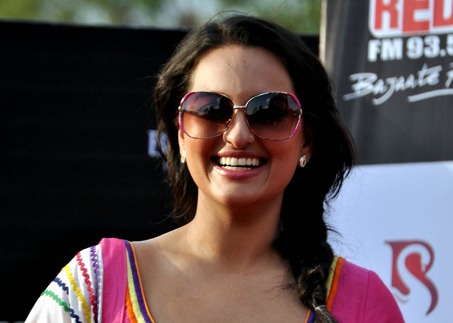 Sonakshi Sinha poses for a photo during a promotion for the  upcoming Hindi film Rowdy Rathore