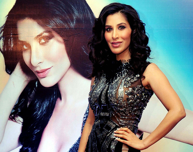 Bollywood film actress and singer Sophie Choudry poses during the launch of her new video 'Hungama Ho Gaya', a remix of the yesteryear song, in Mumbai.