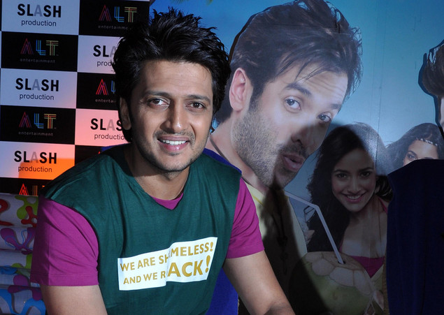 Ritesh Deshmukh poses during a promotional event for 'Kyaa Super Kool Hai Hum.'