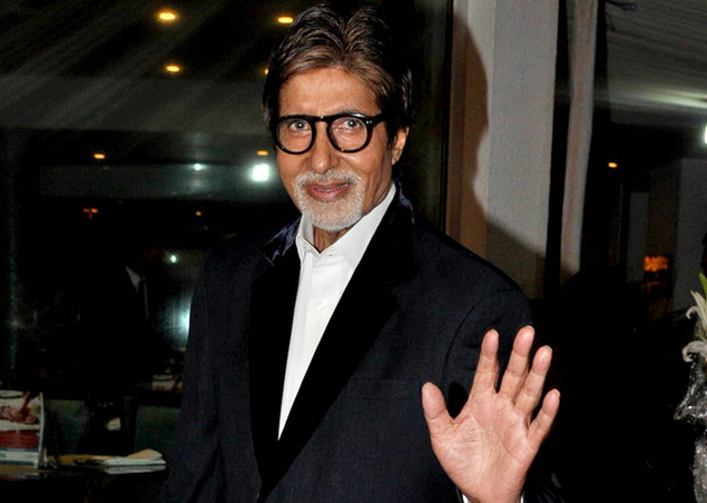 "Amitabh Bachchan poses during a party for the Hindi film ""Ferrari Ki Sawaari"""