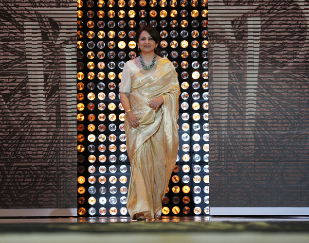 Member of the jury, Indian actress Sharmila Tagore poses during the opening ceremony of the 12th Marrakech International Film Festival.