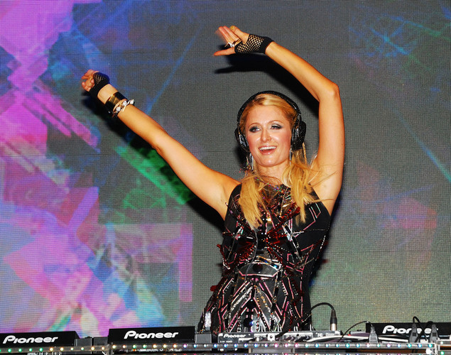 Paris Hilton performs live at the India Resort Fashion Week at Candolim beach in north Goa.