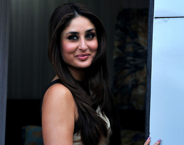 Bollywood actress Kareena Kapoor poses on the set of a television show during the promotion of the forthcoming Hindi film 'Dabbang 2' in Lonavala.