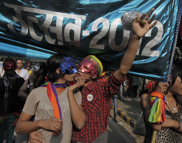 People participate in the 5th Delhi Queer Pride parade in New Delhi, India.