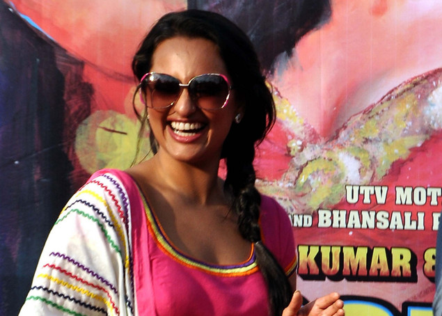 Sonakshi Sinha poses for a photo during a promotion for the film Rowdy Rathore.