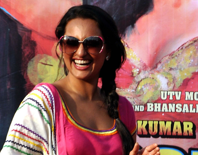 Sonakshi Sinha poses for a photo during a promotion for the  upcoming Hindi film Rowdy Rathore in Mumbai.
