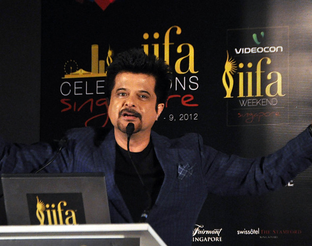 Anil Kapoor attends the press conference for the announcement of the 'IIFA Awards 2012' ceremony in Mumbai.