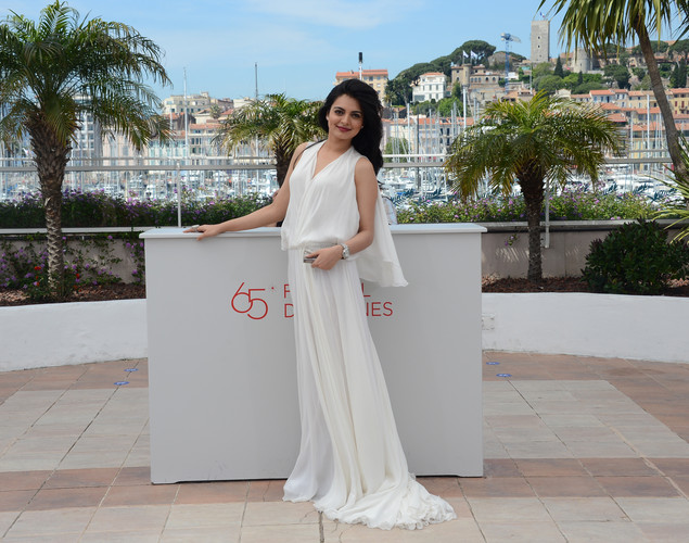 Niharika Singh poses during the photocall of 'Miss Lovely' presented in the Un Certain Regard selection at the 65th Cannes film festival.