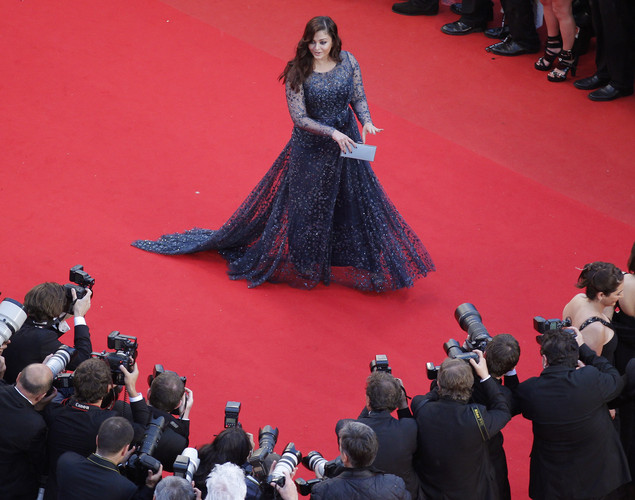 Indian actress Aishwarya Rai arrives for the screening of 'Cosmopolis' presented in competition at the 65th Cannes film festival.