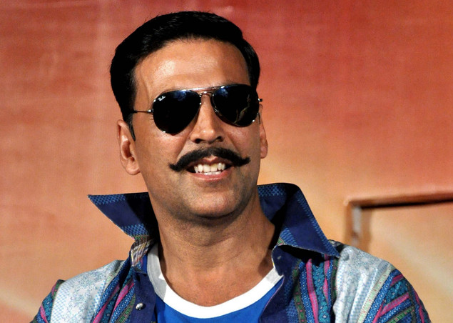 Indian Bollywood film actor Akshay Kumar smiles during the launch of the trailer of Hindi film 'Rowdy Rathore'
