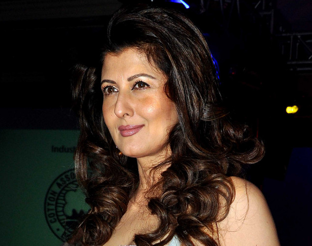 Sangeeta Bijlani poses as she attends a Cotton Council International Celebrates Cottonscape fashion show in Mumbai.