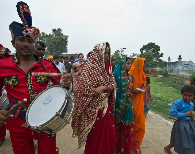 The three newly-wed brides were each rewarded with $3,500 and the costruction of new toilets in their in-laws residences for taking a stand on sanitation in rural India.