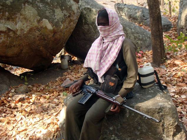 A Maoist rebel in Orissa state, India.