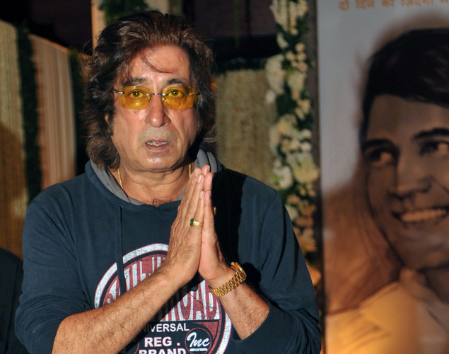 Indian Bollywood actor Shakti Kapoor attends a prayer function in memory of late actor Rajesh Khanna in Mumbai.