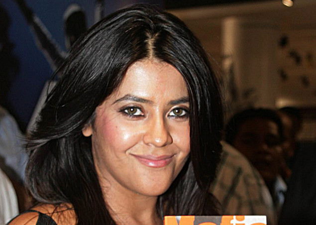 Indian television producer Ekta Kapoor attends the launch of the book 'Mafia Queens' written by one of India's leading crime journalists, Hussain Zaidi in Mumbai on May 4, 2011.