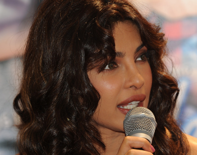 Bollywood actress Priyanka Chopra speaks to the media about the upcoming film 'Teri Meri Kahaani', in Ahmedabad.