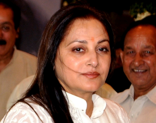 Indian Bollywood actress Jaya Prada attends a prayer function in memory of late actor Rajesh Khanna in Mumbai.