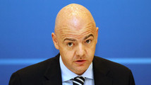 UEFA general secretary Infantino attends a news conference at the UEFA Executive Committee meeting in Istanbul