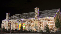 Handout photo of the world's largest gingerbread house in Bryan, Texas