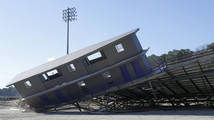 OBU destroys home football stands for new seats