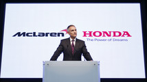 McLaren Group Limited CEO Martin Whitmarsh attends a news conference in Tokyo