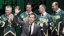 Big names join Stars' Modano for jersey ceremony