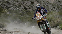 Kurt Caselli of the U.S rides his KTM during the 8th stage of the Dakar Rally 2013 from Salta to San Miguel de Tucuman