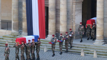 French president honors 2 soldiers killed in CAR