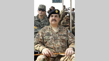 Pakistan's Lieutenant-General Raheel Sharif attends a military exercise in Bahawalpur