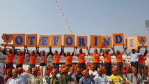 India set to challenge U.S. for election-spending record