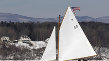 On the rocks? 'Ice yachts' sail cold Hudson River